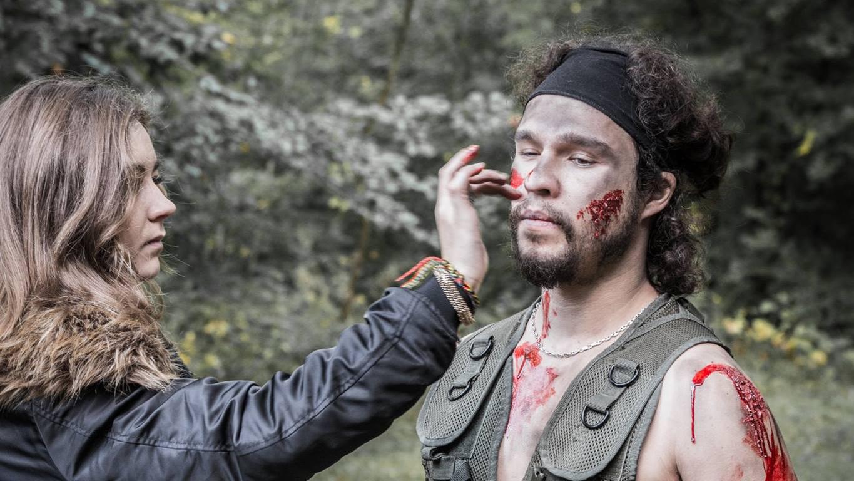 Tournage Suédé Platoon - maquillage